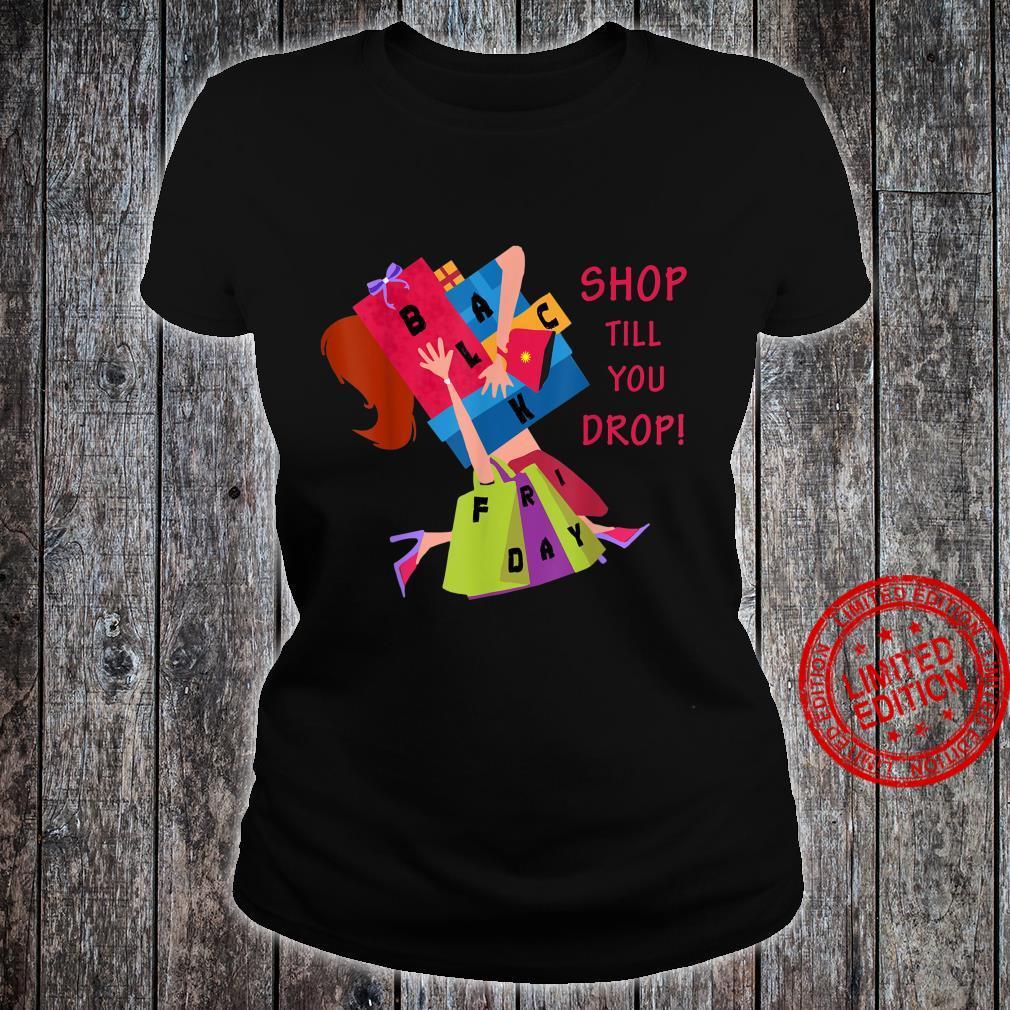 Black Friday Shopping Christmas Crew Team Shirt ladies tee