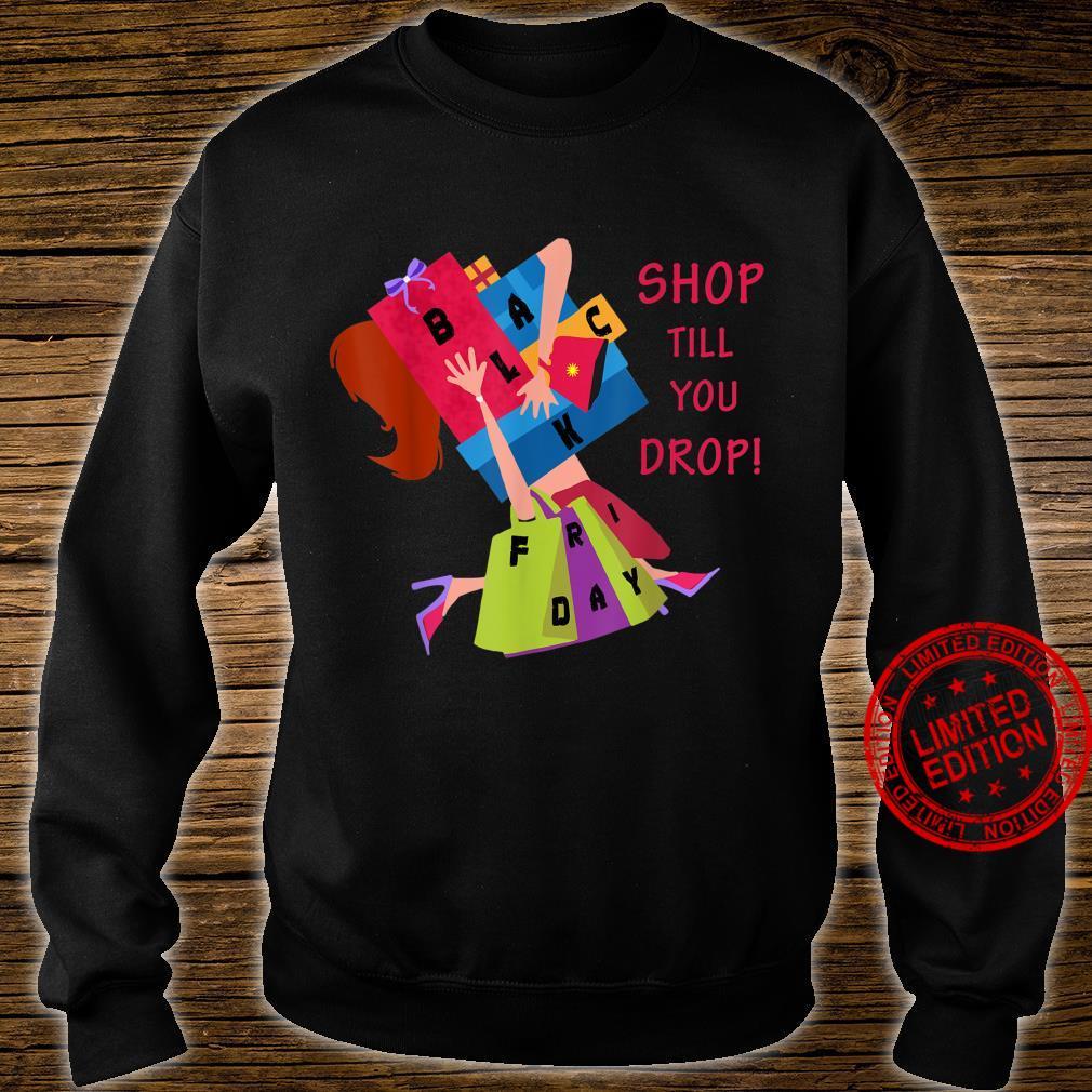 Black Friday Shopping Christmas Crew Team Shirt sweater