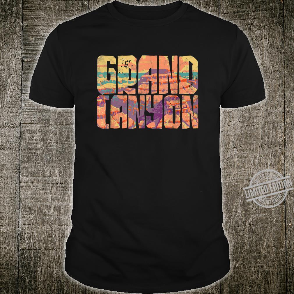 Bold Grunge Grand Canyon Design Grand Canyon Vacation Shirt