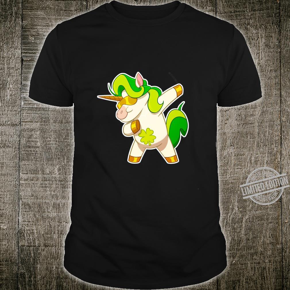 Dabbing Unicorn St Patricks Day Irish Dab Girls Shirt