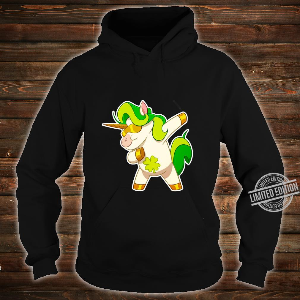Dabbing Unicorn St Patricks Day Irish Dab Girls Shirt hoodie