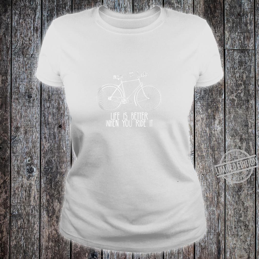 Funny Bike Bicycle Biking Cycle Retro VIntage Burn Fat Shirt ladies tee