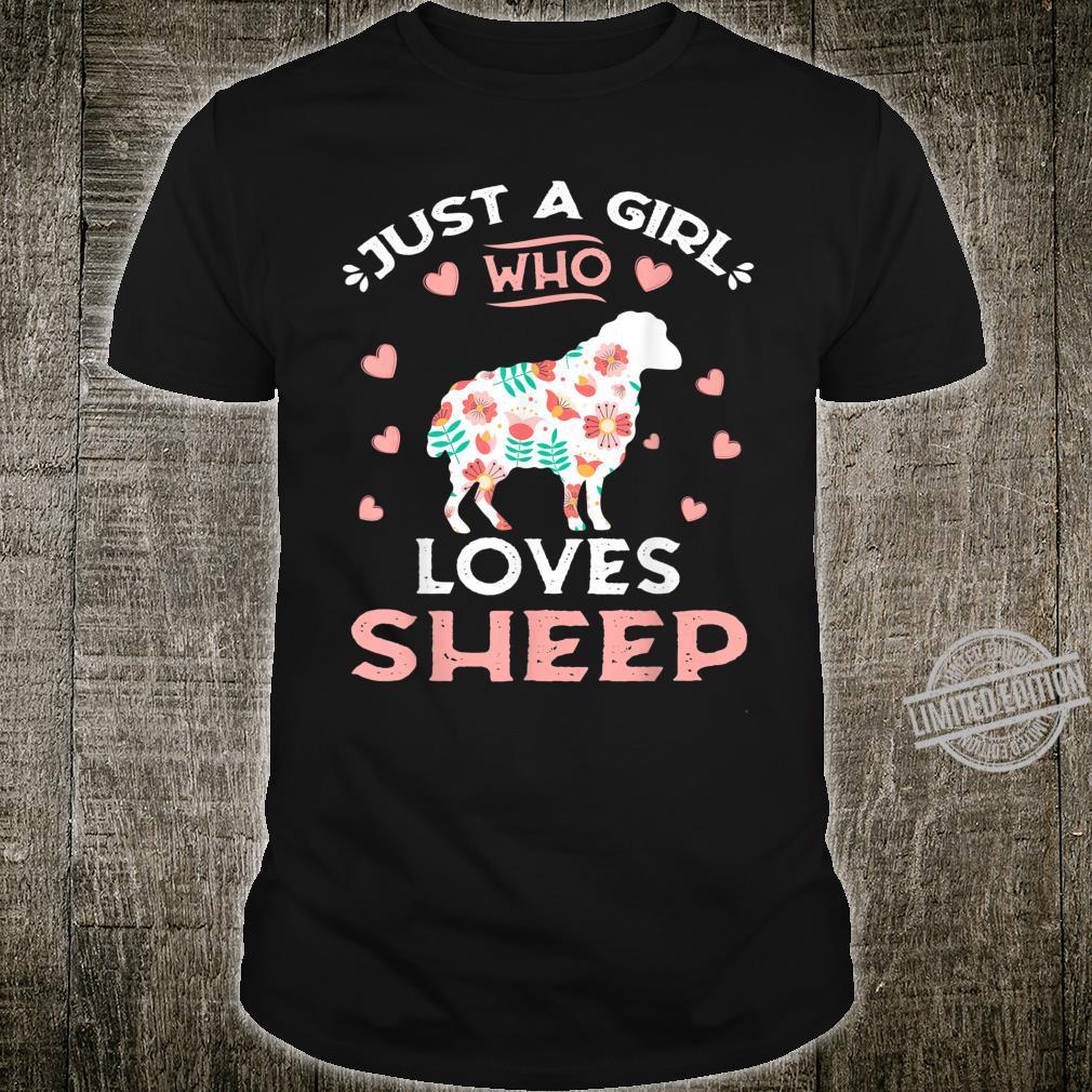 Just A Girl Who Loves Sheep Sheeps Shirt