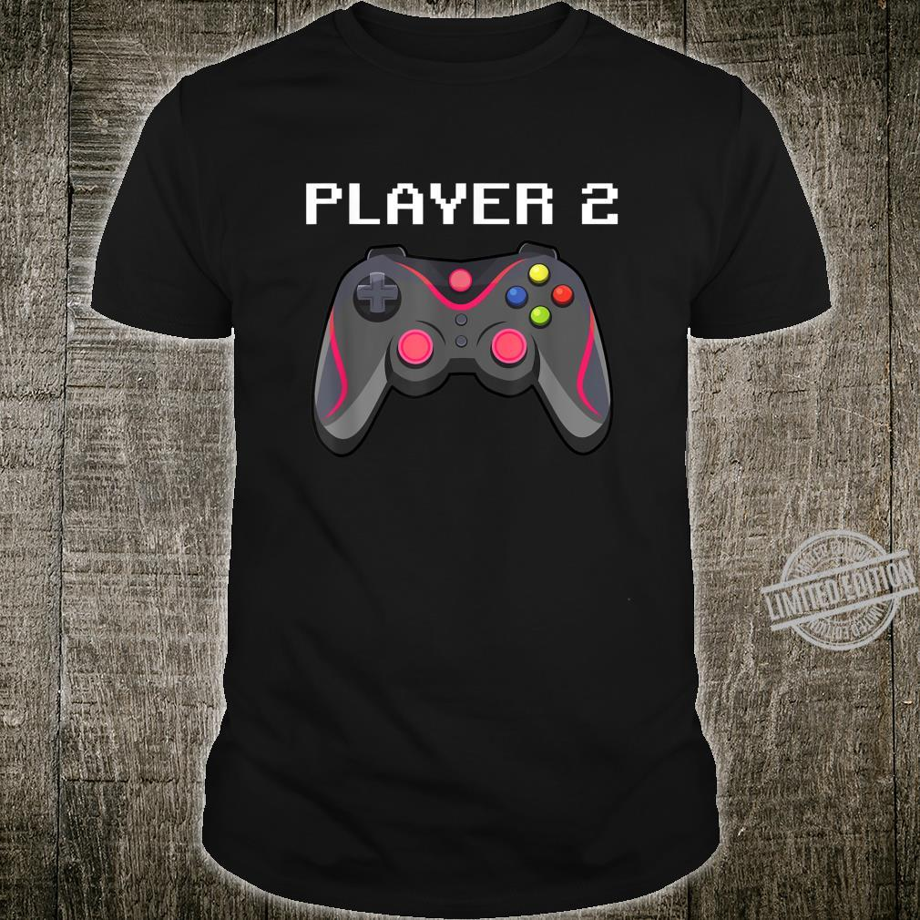 Matching Gamer Family Gaming Team Player 2 for Mom Shirt