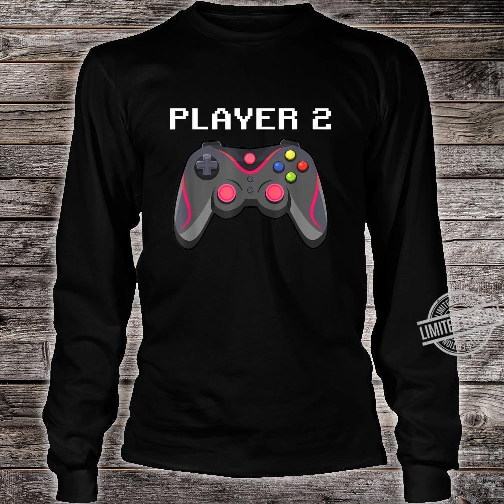 Matching Gamer Family Gaming Team Player 2 for Mom Shirt long sleeved