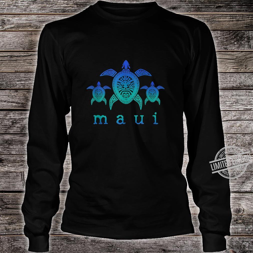 Maui Hawaii Sea Turtles Hawaiian Scuba Diving Souvenir Shirt long sleeved