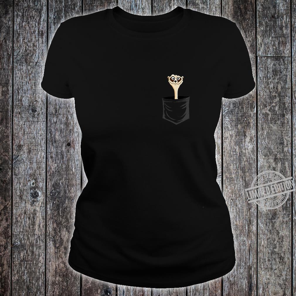 MeerkatLovers FanArt Meerkat In Pocket Shirt ladies tee