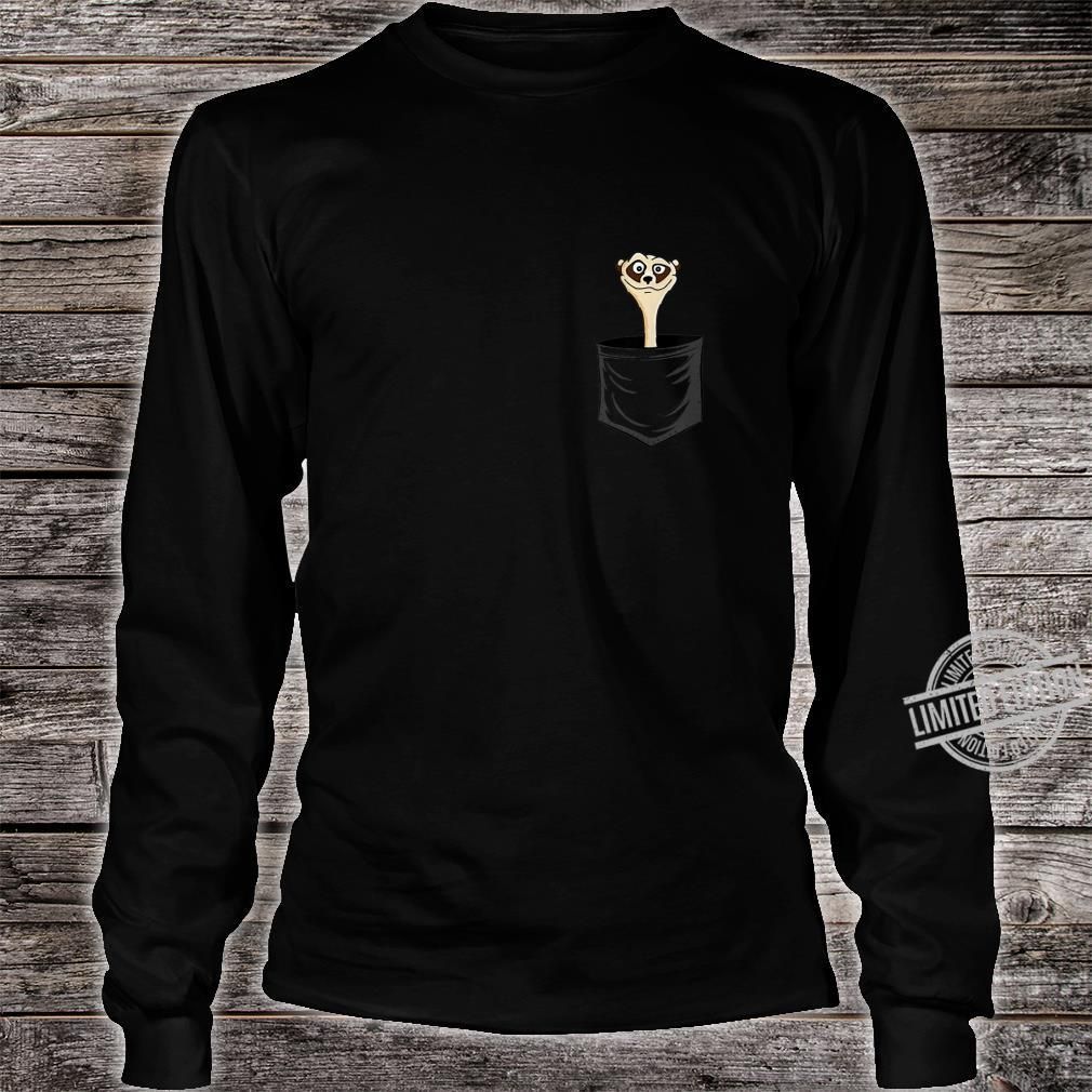 MeerkatLovers FanArt Meerkat In Pocket Shirt long sleeved
