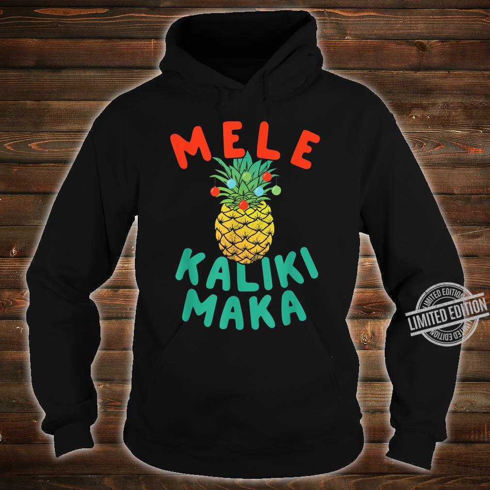 Mele Kalikimaka Hawaii Hawaiian Christmas Pineapple Shirt hoodie