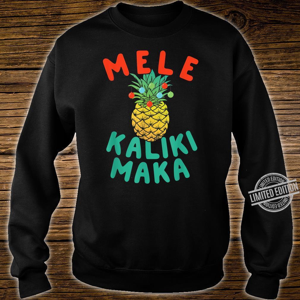 Mele Kalikimaka Hawaii Hawaiian Christmas Pineapple Shirt sweater