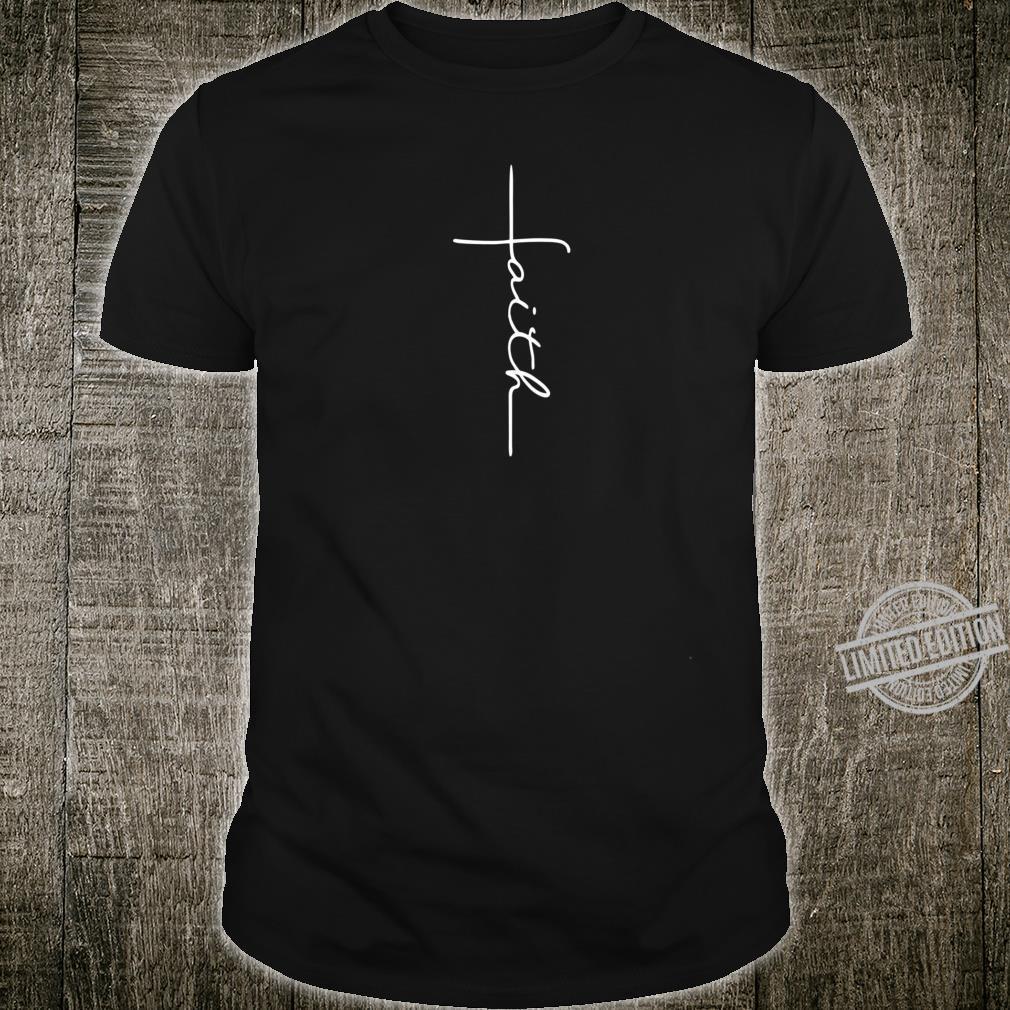 Men and Faith Cross Rear Christian Shirt