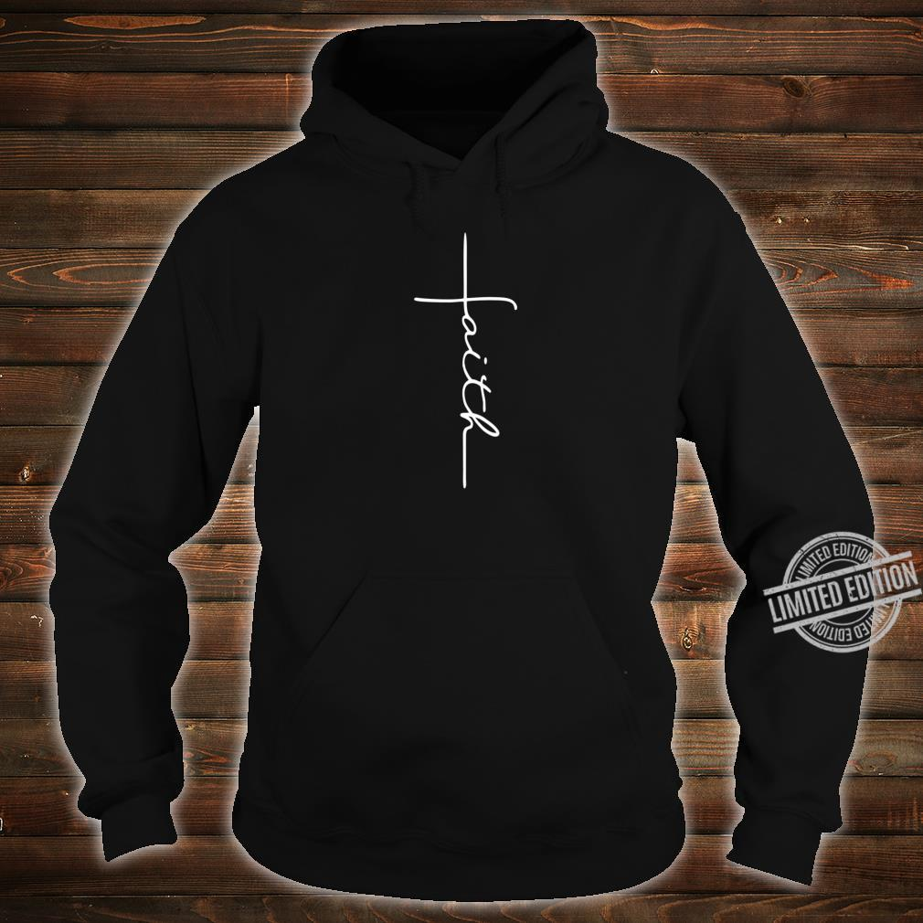 Men and Faith Cross Rear Christian Shirt hoodie