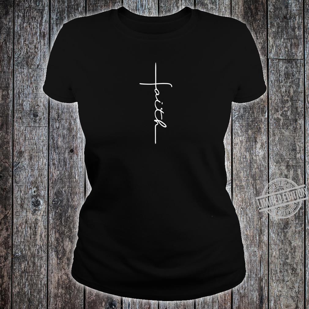 Men and Faith Cross Rear Christian Shirt ladies tee