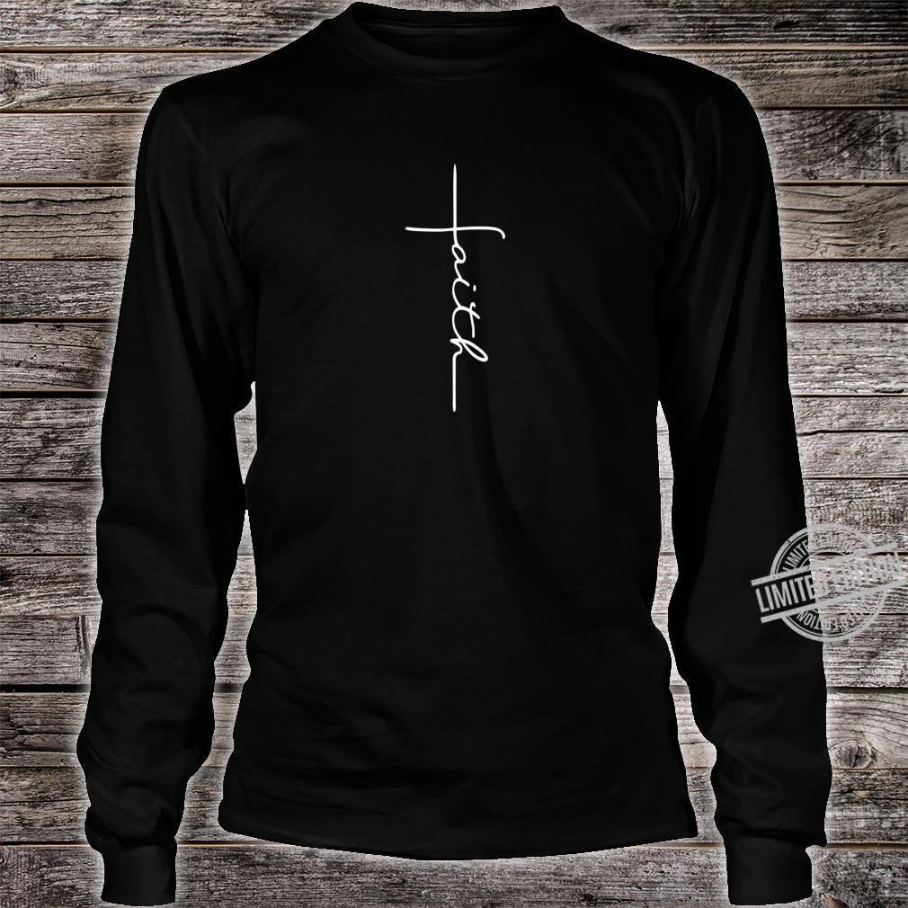 Men and Faith Cross Rear Christian Shirt long sleeved