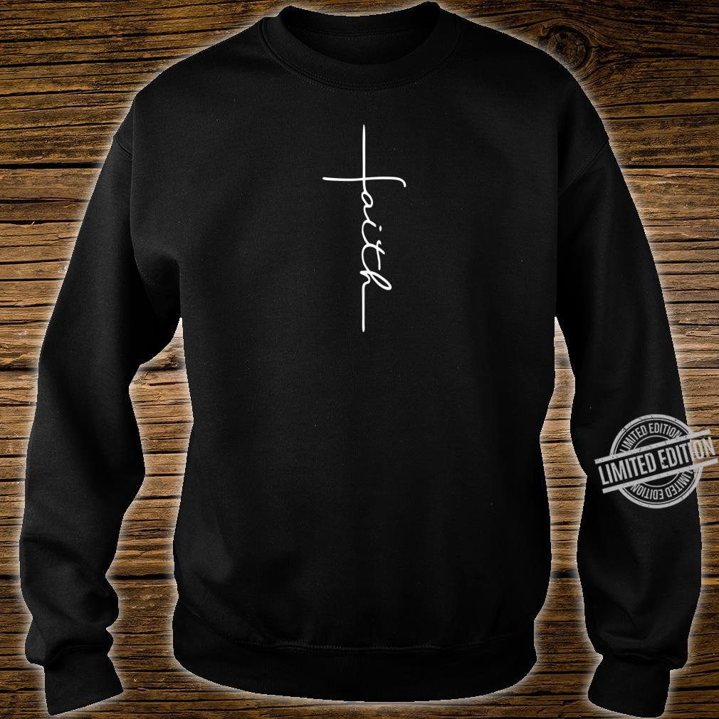 Men and Faith Cross Rear Christian Shirt sweater