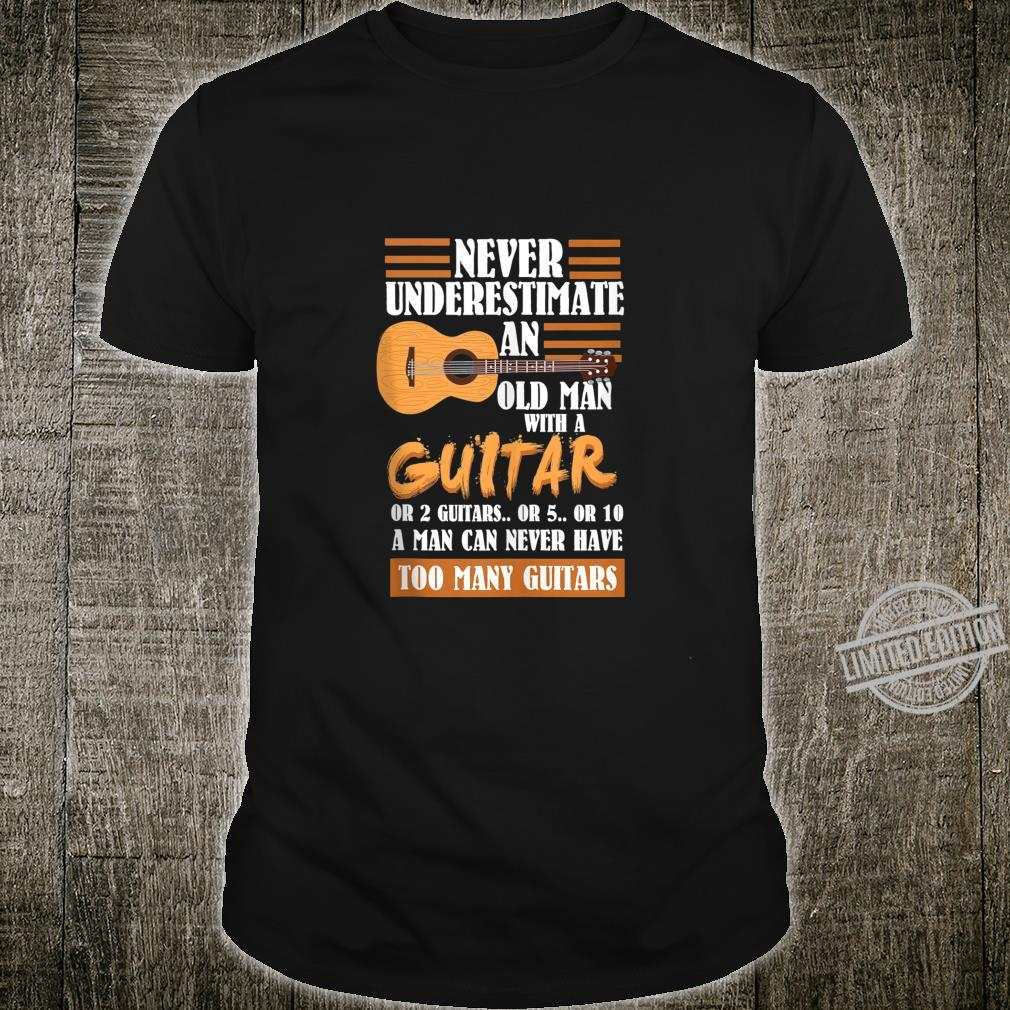 Mens Acoustic Guitar Player Shirt