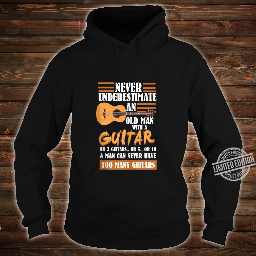 Mens Acoustic Guitar Player Shirt hoodie