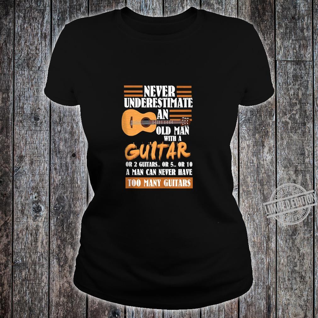 Mens Acoustic Guitar Player Shirt ladies tee
