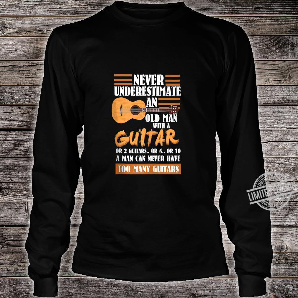Mens Acoustic Guitar Player Shirt long sleeved