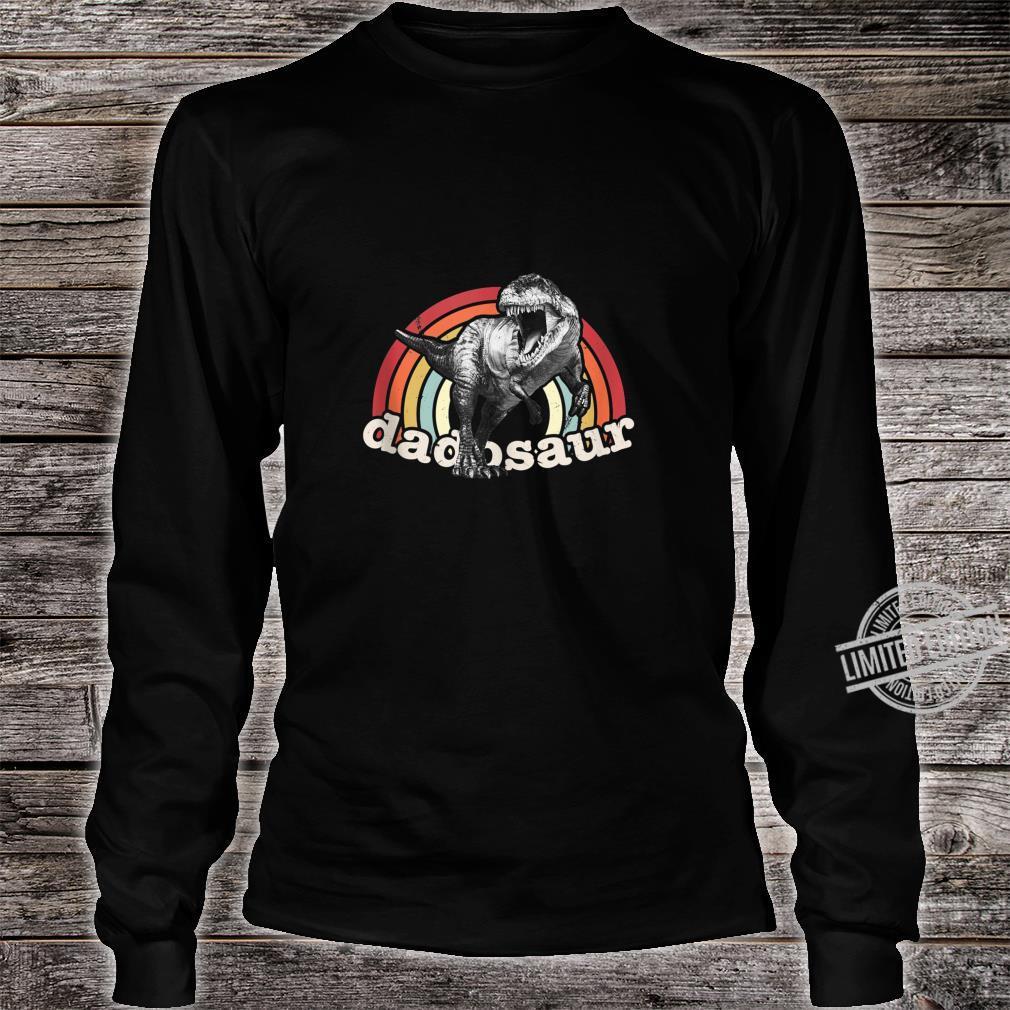 Mens Dadosaur Dinosaur Father's Day Birthday Halloween Christmas Shirt long sleeved