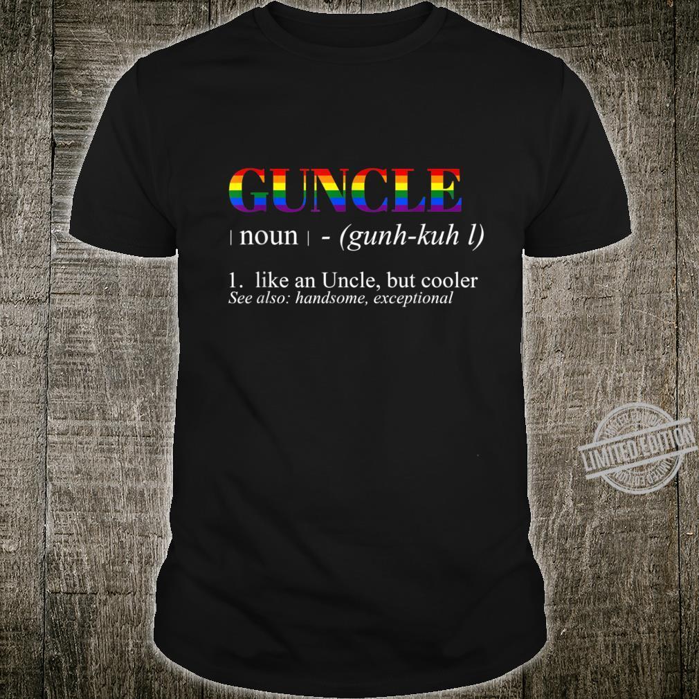 Mens Guncle Definition LGBTQ Flag Gay Uncle Shirt