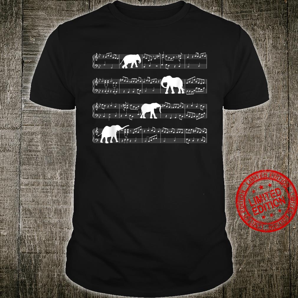 Musik Notenschlüssel Elefant Shirt