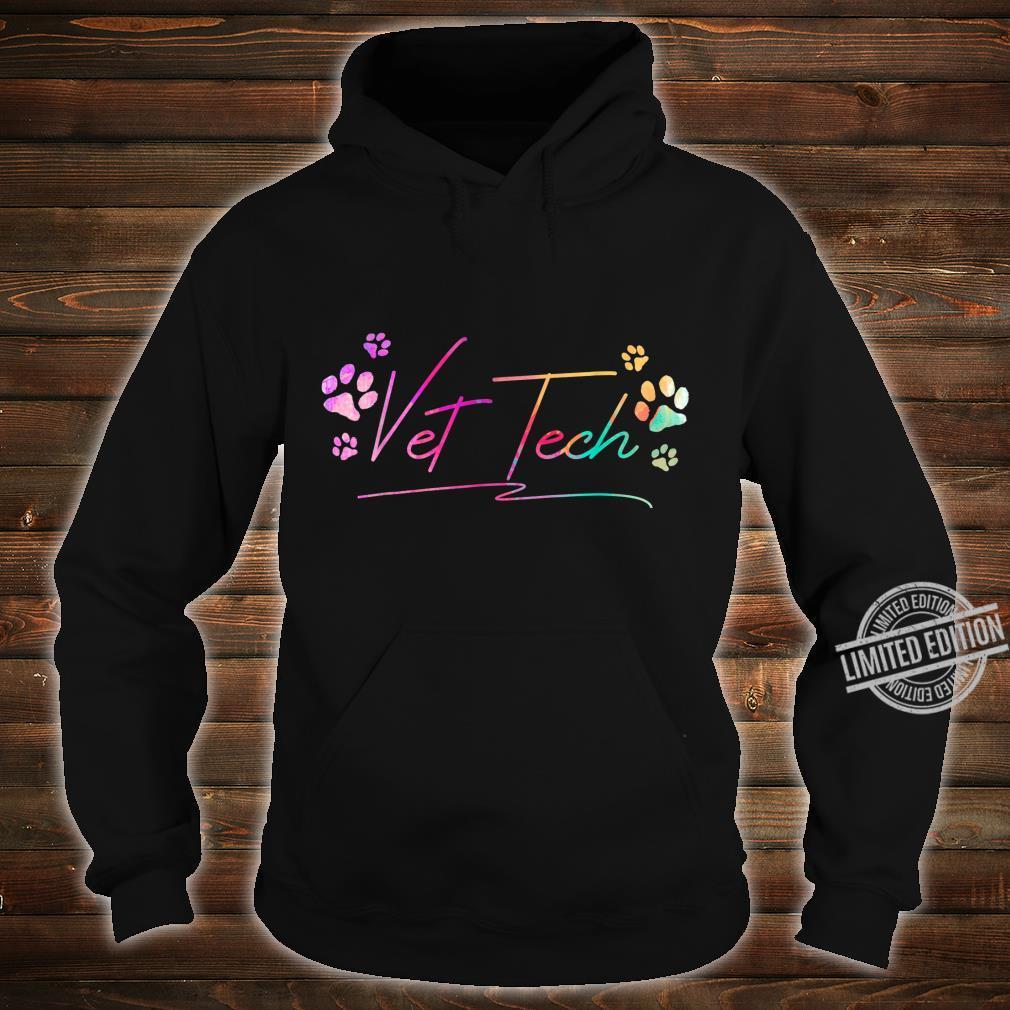 Vet Tech Pawprint Veterinary Technician Shirt hoodie