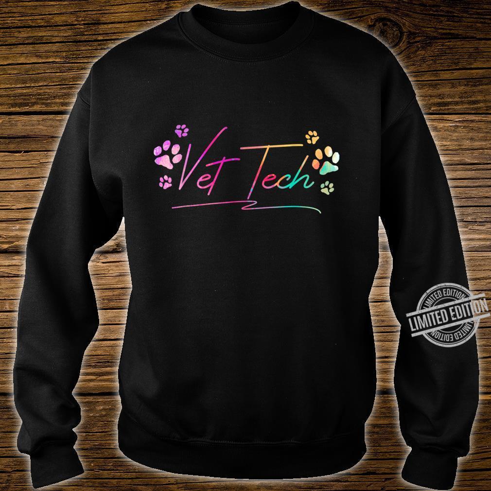 Vet Tech Pawprint Veterinary Technician Shirt sweater
